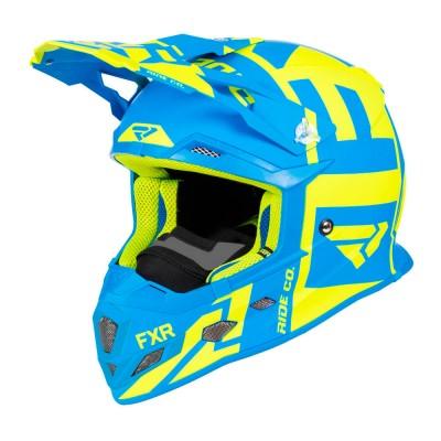 Шлем FXR Clutch Evo, детский (Hi Vis/Blue)