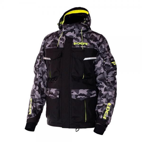 Куртка FXR Excursion с утеплителем (Black/Grey Urban Camo/Hi Vis)
