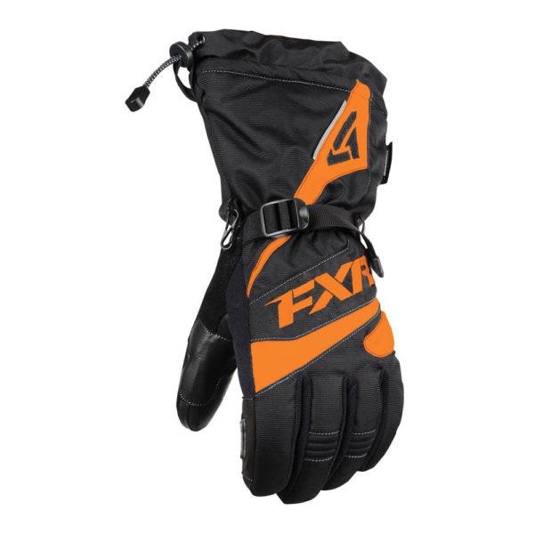 Перчатки FXR Fuel с утеплителем, мужские (Black/Orange)