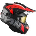 """Шлем снегоходный бэккантри CKX TITAN ALTITUDE, с очками CKX 210""""TACTICAL, красный/белый"""