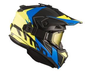 Шлем снегоходный бэкантри CKX TITAN CLIFF с очками CKX 210 TACTICAL,жел/син матовый