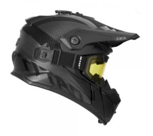 """Шлем снегоходный CKX TITAN CARBON с очками CKX 210"""" TACTICAL, карбон мат."""