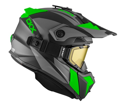 "Шлем снегоходный CKX TITAN SIDEHILL с очками CKX 210""TACTICAL, зелен мат."
