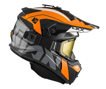 """Шлем снегоходный CKX TITAN ALTITUDE с очками CKX 210""""TACTICAL, оранж/бел,"""
