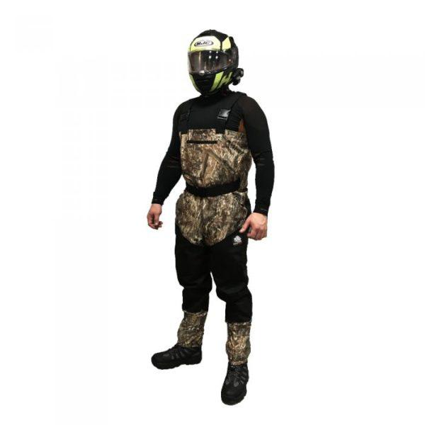 Вейдерсы Motoraive HUNTER CAMO цвет камуфля/черн, с защитой, материал мембрана+кевлар 21602