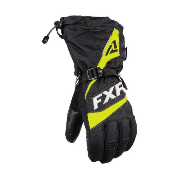 Перчатки FXR Fuel с утеплителем, взрослые, муж. (Black/Hi Vis)