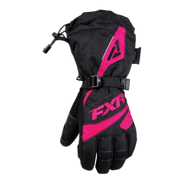 Перчатки FXR Fusion с утеплителем, взрослые, жен Black/Fuchsia)