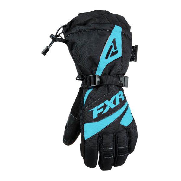 Перчатки FXR Fusion с утеплителем, взрослые, жен (Black/Mint)
