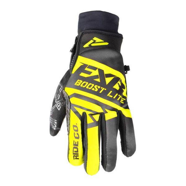 Перчатки FXR Boost без утеплителя, взрослые, муж. (Black/Hi Vis)