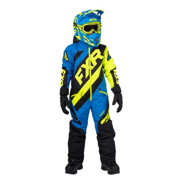 Комбинезон FXR CX с утеплителем, дети, унисекс (Black/Blue/Hi Vis)