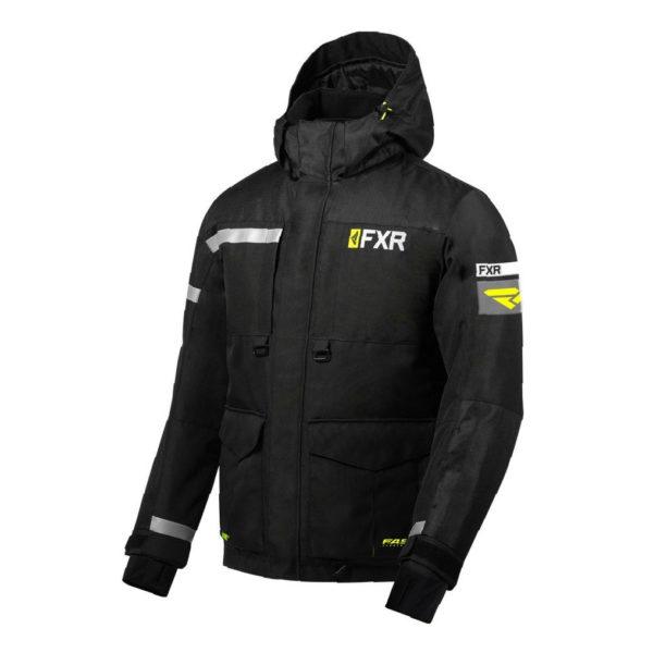 Куртка FXR Excursion Ice Pro с утепленной вставкой, взрослые, муж. (Black/Hi Vis)