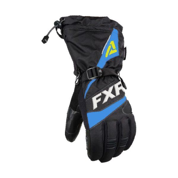 Перчатки FXR Fuel с утеплителем, взрослые, муж.(Black/Blue/Hi Vis)