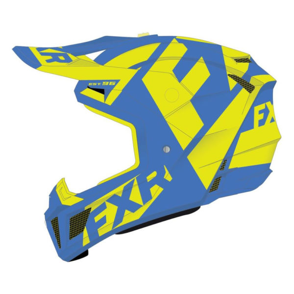 Шлем FXR Clutch CX ,взрослые, (Blue/Hi Vis)