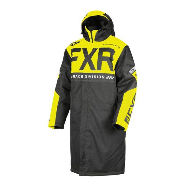 Пальто FXR Warm Up с утеплителем, взрослые, муж. (Black/Hi Vis)