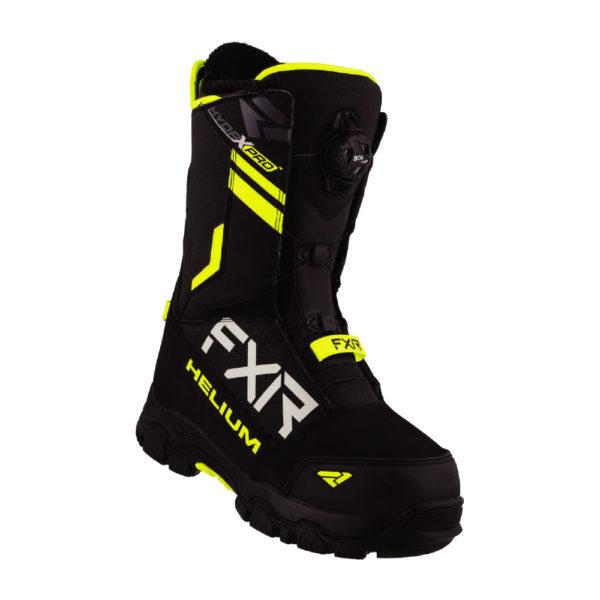 Ботинки FXR Helium BOA с утеплителем, взрослые, унисекс (Black/Hi Vis)