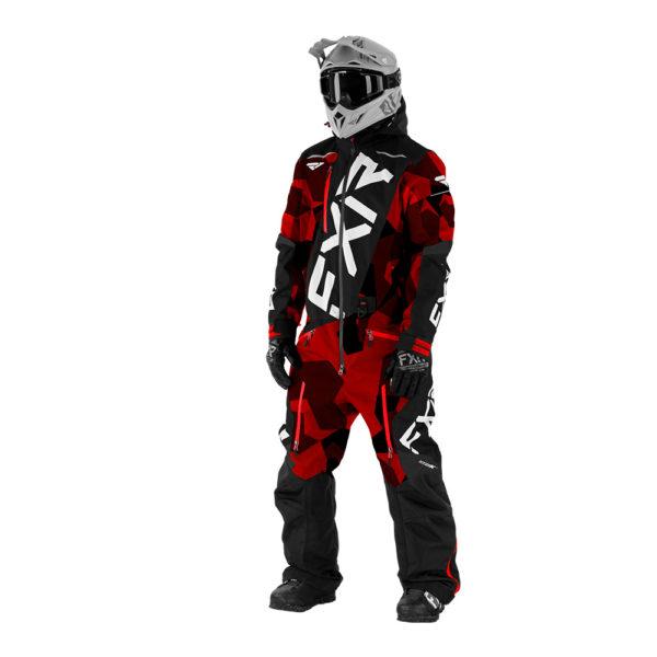 Комбинезон FXR CX F.A.S.T. с утеплителем, взрослые, муж (Red Camo/Black/White)