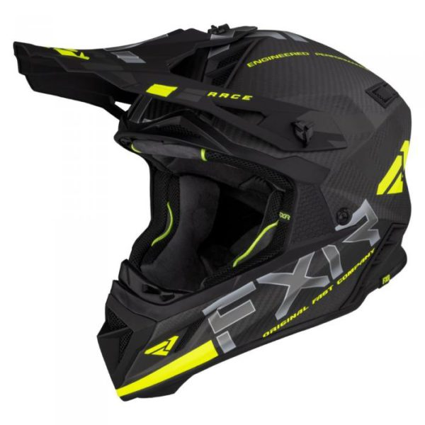 Шлем FXR Helium Carbon, взрослые (Hi Vis/Charcoal)