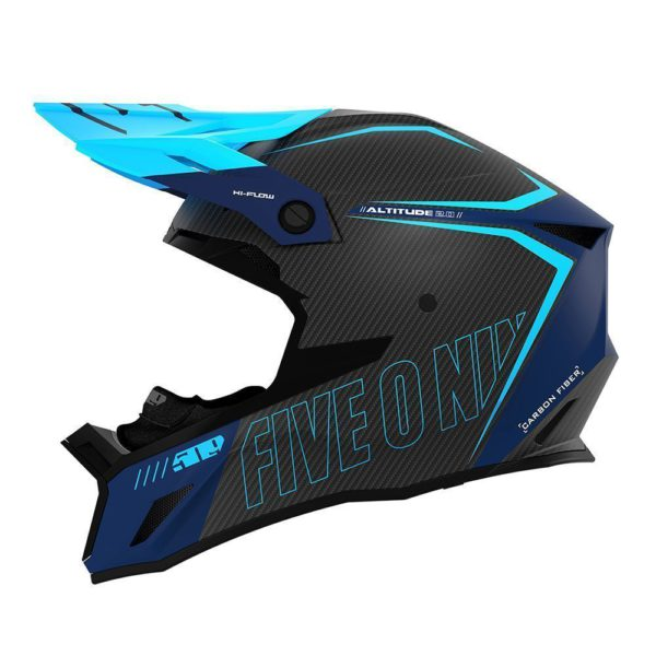 Шлем 509 Altitude 2.0 Carbon 3K, взрослые (Cyan Navy)